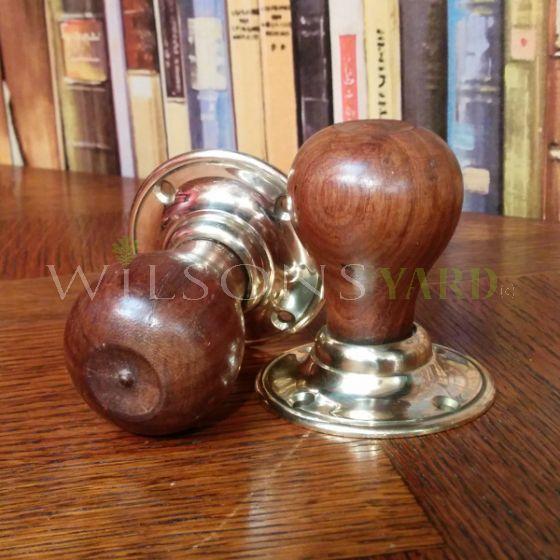 Wooden Pear Shaped Door Handle