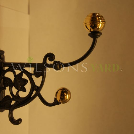 Brass & Ivy Leaf Coat Hook