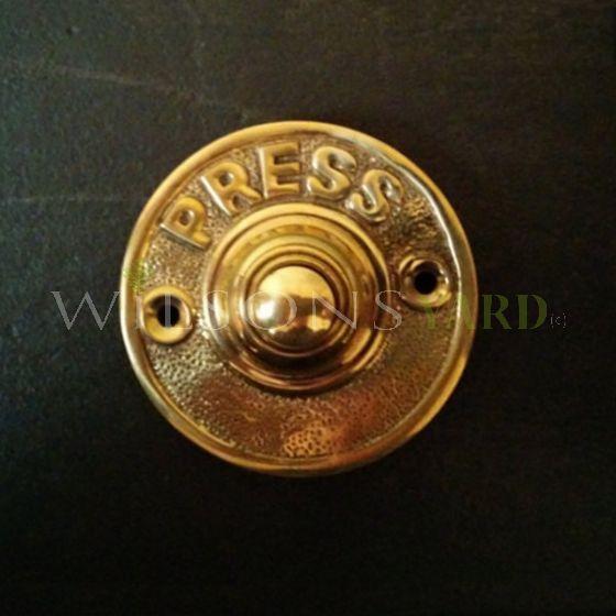 Small Brass Door Bell Push