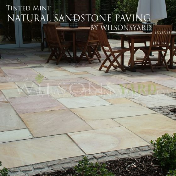 desert sandstone paving flags