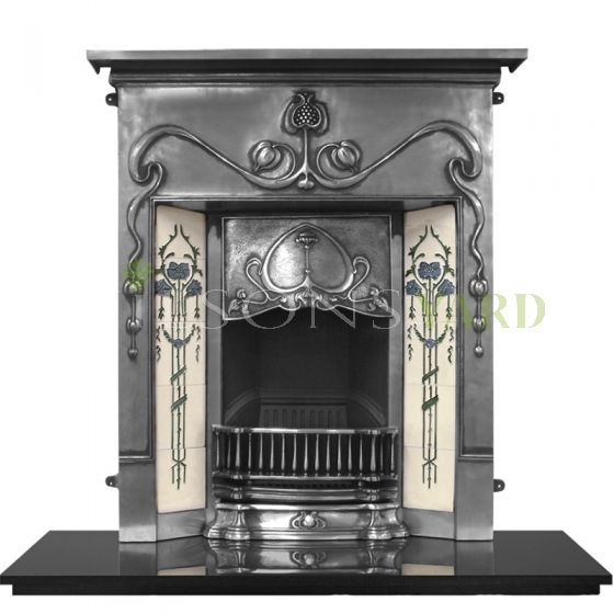 Period style antique cast iron fireplace