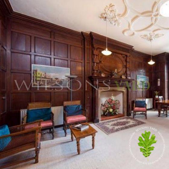 victorian wooden panel room