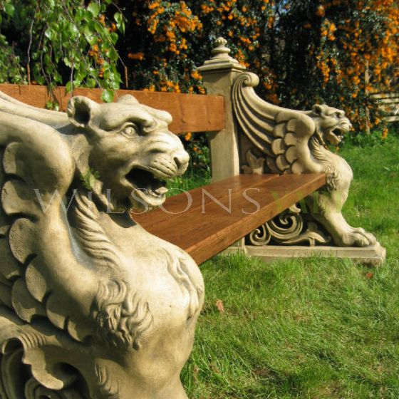 The Winged Lion Bench