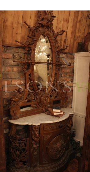 A Magnificent 19th Century Maple Topped Hall Stand with Exquisitely Cast Detailing