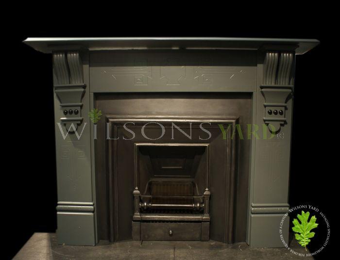 Victorian slate fireplace