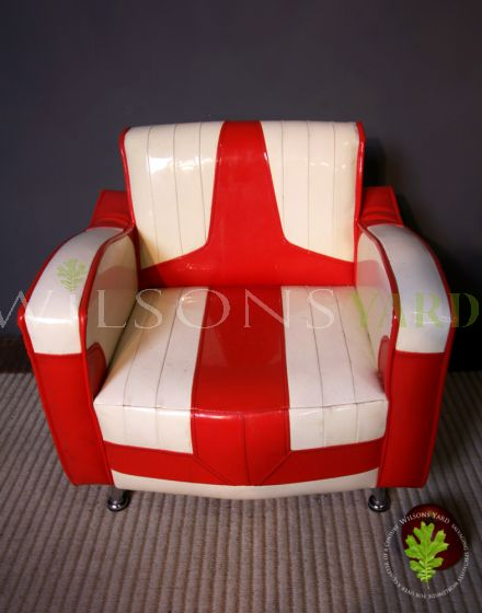 Funky Red and White Chair