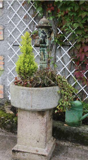 Antique garden water trough