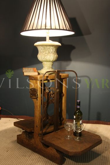 Edwardian Potato Scales Lamp Table
