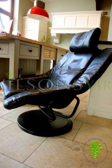 Funky Black 1960's Swivel Chair