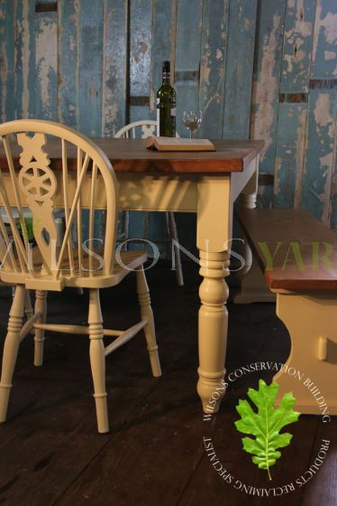 Cream Legged Kitchen Table