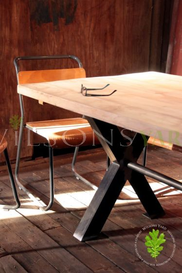 Industrial Table with Axe Legs
