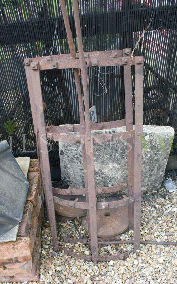 Pair of Aged Metal Ploughs