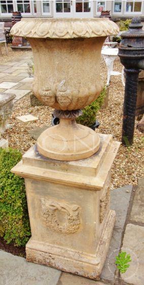 Beautiful Pair of 19th Century Terracotta Garden Urns