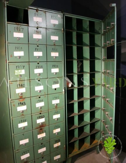 Green Pigeon Hole Cabinets