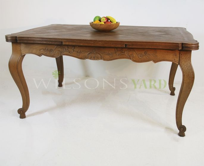 Parquet topped table